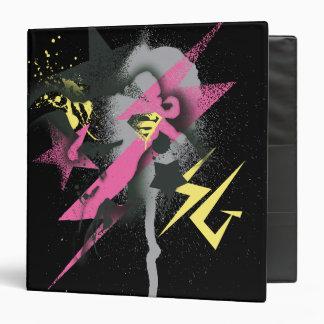 Supergirl Spray Paint Vinyl Binders