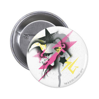 Supergirl Spray Paint Pinback Button