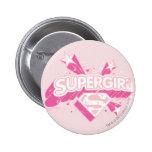 Supergirl Stars and Logo 2 Inch Round Button