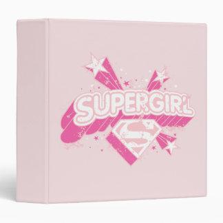 Supergirl Stars and Logo 3 Ring Binder