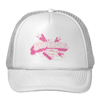 Supergirl Stars and Logo Trucker Hat