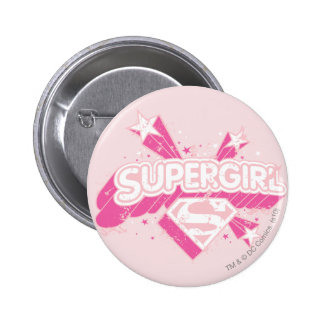 Supergirl Stars and Logo Pinback Button
