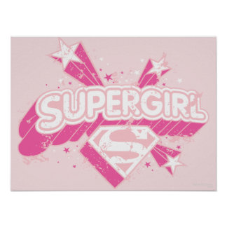 Supergirl Stars and Logo Posters