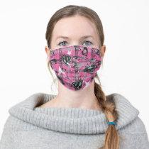 Supergirl Stars and Skulls Pattern Adult Cloth Face Mask