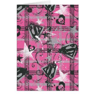 Supergirl Stars and Skulls Pattern Card