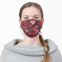 Supergirl Stary Red Pattern Adult Cloth Face Mask