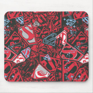 Supergirl Stary Red Pattern Mouse Pad
