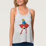 Supergirl Strikes a Pose Flowy Racerback Tank Top