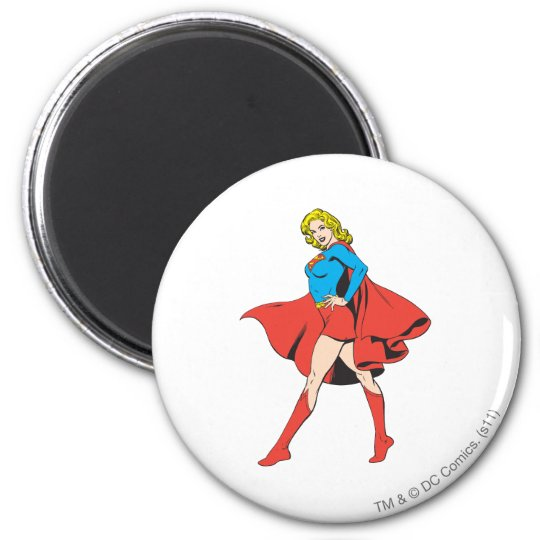 Supergirl Strikes a Pose Magnet