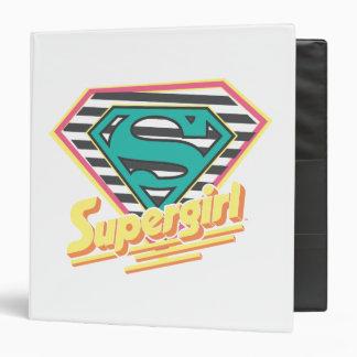 Supergirl Striped Logo 3 Ring Binder