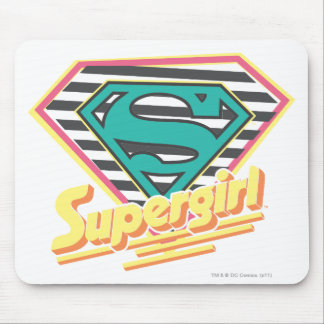 Supergirl Striped Logo Mouse Pad