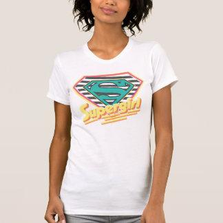Supergirl Striped Logo Shirt
