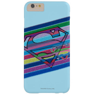 Supergirl Striped Rainbow Logo Barely There iPhone 6 Plus Case
