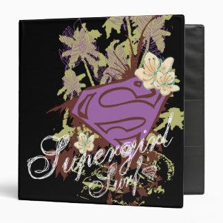 Supergirl Surf Logo 3 Ring Binder