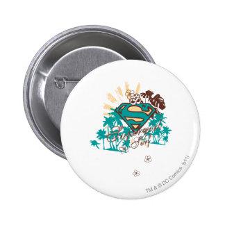 Supergirl Surf Pinback Button
