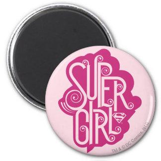 Supergirl Swirl 1 Refrigerator Magnets