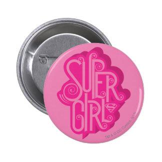 Supergirl Swirl 2 Pinback Button