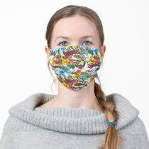 Supergirl The Lux Pattern Adult Cloth Face Mask