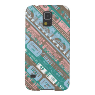 Supergirl Ticket Pattern Blue Case For Galaxy S5
