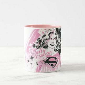 Supergirl totalmente fabuloso taza de café de dos colores