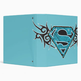 Supergirl Tribal Pattern Logo 3 Ring Binder