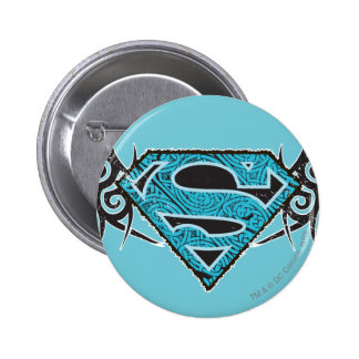 Supergirl Tribal Pattern Logo Buttons