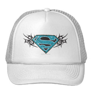 Supergirl Tribal Pattern Logo Hats