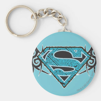 Supergirl Tribal Pattern Logo Key Chain