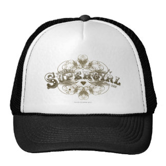Supergirl What's a Girl to Do Brown Trucker Hat
