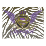 Supergirl Zebra Print Post Card