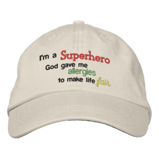Superhero Allergies Hat Embroidered Hat