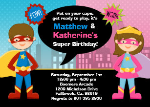 Super Girl Invitations Zazzle