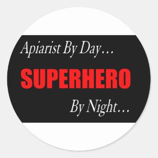 Superhero Apiarist Classic Round Sticker