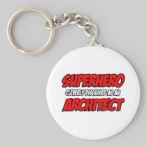 Superhero...Architect Basic Round Button Keychain