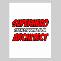 Superhero...Architect Post Cards