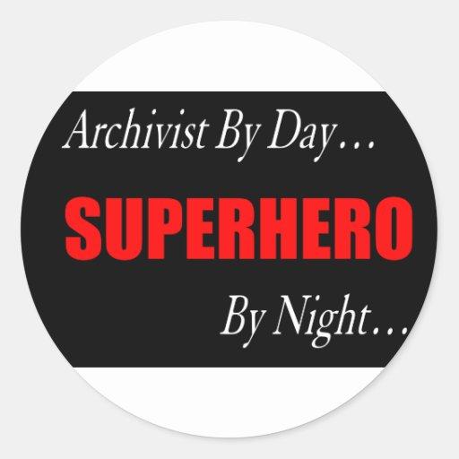 Superhero Archivist Stickers