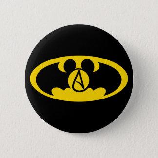 Superhero atheist button
