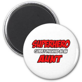 Superhero...Aunt 2 Inch Round Magnet