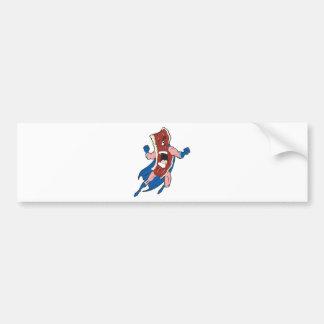superhero bacon cartoon character bumper stickers