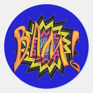 Superhero BAM! Classic Round Sticker
