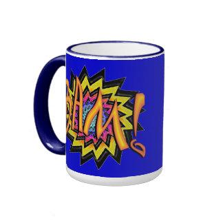 Superhero BAM! Ringer Mug