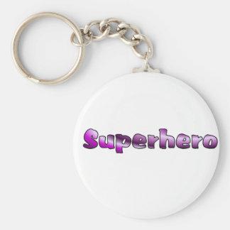 Superhero Basic Round Button Keychain