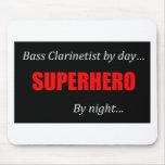 Superhero Bass Clarinet Mouse Pad