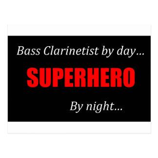 Superhero Bass Clarinet Postcard