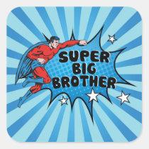 Superhero Becoming a Big Brother Square Sticker