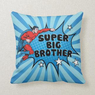 Superhero Becoming a Big Brother Throw Pillow