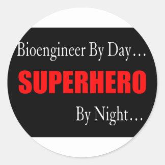 Superhero Bioengineer Classic Round Sticker
