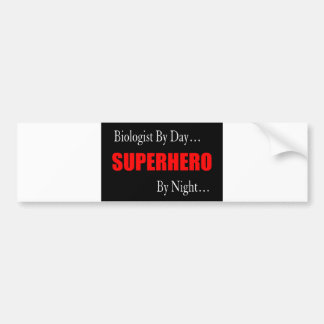 Superhero Biologist Bumper Sticker