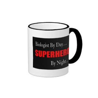 Superhero Biologist Ringer Coffee Mug