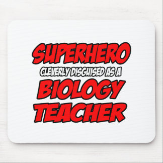 Superhero Biology Teacher Mouse Pad